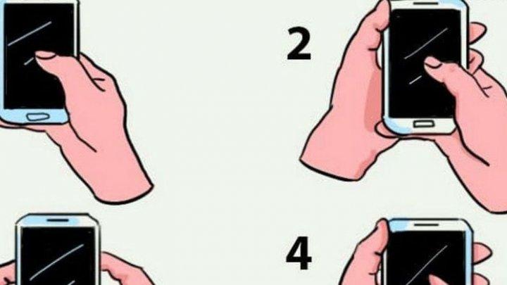 Modul după cum ţii telefonul în mână poate spune multe despre personalitatea ta