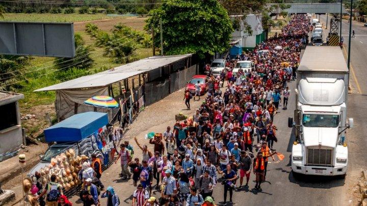 Primul val de migranţi din caravana care a plecat din Honduras a ajuns în Ciudad de Mexico