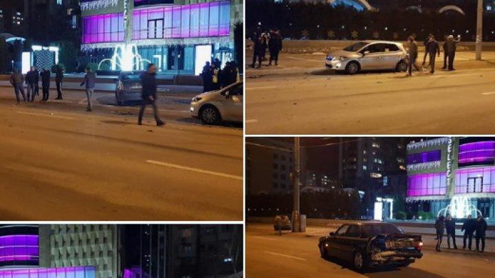 ACCIDENT în Capitală. Două maşini, AVARIATE GRAV. Poliţia, la faţa locului (FOTO)