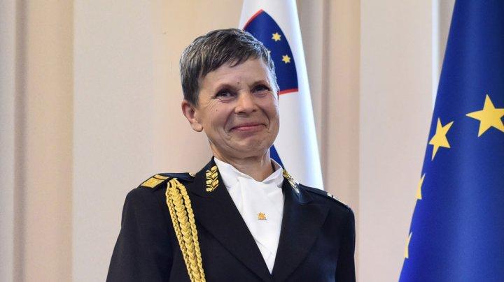 Slovenia, prima țară din NATO care numește o femeie în funcția de Șef al Statului Major