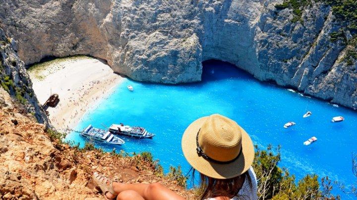 O plajă de pe insula grecească Zakynthos, desemnată cea mai frumoasă din lume (FOTO)