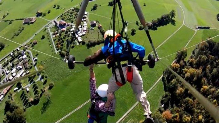 EXPERIENŢĂ ÎNFIORĂTOARE. Ce a păţit un bărbat care a încercat să zboare cu deltaplanul pentru prima dată în viaţă (VIDEO)