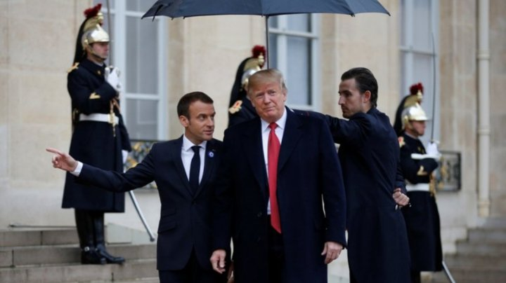 Donald Trump s-a întâlnit cu Emmanuel Macron. Despre ce au discutat oficialii