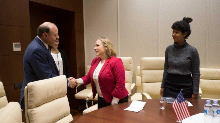 Moldova-SUA: Valeriu Ghilețchi, a discutat cu reprezentanții Departamentului de Stat al Americii