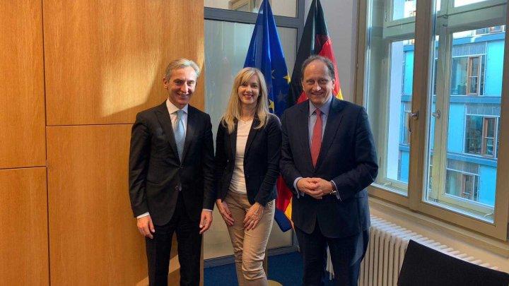 Viceprim-ministrul pentru Integrare europeană Iurie Leancă a efectuat o vizită de lucru la Berlin