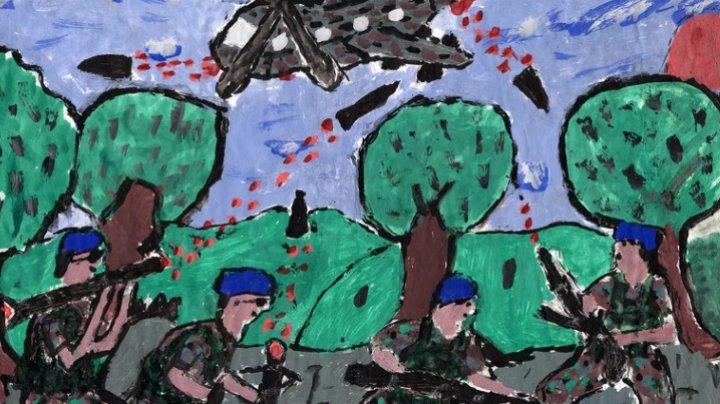 (IMAGINILE SUFERINŢEI CARE ÎŢI DAU FIORI) Ce desenează copiii care au crescut în zone de conflict