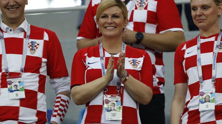 Preşedinta Croaţiei, Kolinda Grabar-Kitarovic, i-a decorat pe vicecampionii mondiali din Rusia