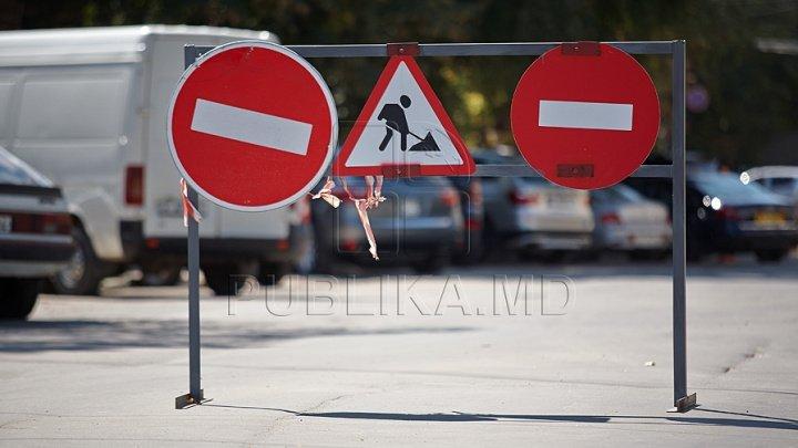 ATENŢIE! De astăzi va fi OPRITĂ circulaţia rutieră pe mai multe străzi din CENTRUL Capitalei