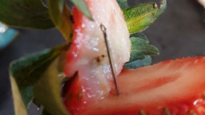 Fenomenul se răspândește! Un ac de cusut, descoperit într-o căpşună din Noua Zeelandă