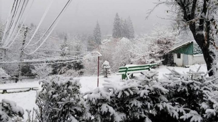 Peisaje de iarnă fascinante. Ninge ca-n poveşti la munte (FOTO)