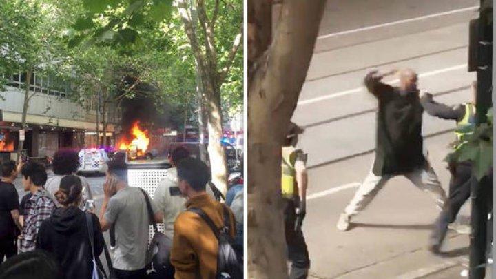 Atacatorul de la Melbourne a condus un vehicul ÎNCĂRCAT CU BUTELII DE GAZ înainte să atace oamenii din mall