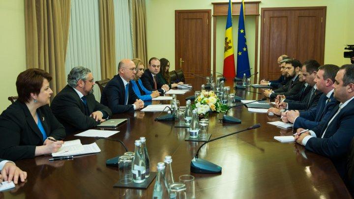 Premierul Pavel Filip s-a întâlnit cu membrii grupului de prietenie din Rada Supremă de la Kiev