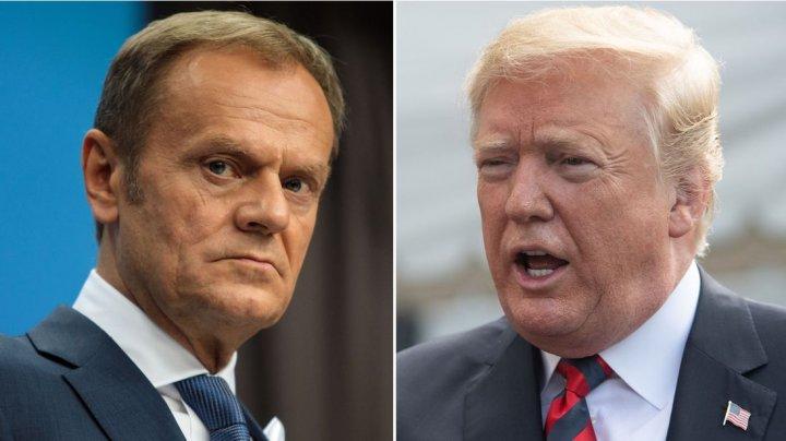 """Donald Tusk l-a acuzat pe Donald Trump că este împotriva creării """"unei Europe unite şi puternice"""""""
