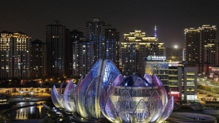 Clădirea în formă de nufăr din China, printre cele mai frumoase construcţii de pe Terra (FOTO)