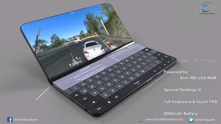 Telefonul pliabil de la Huawei are ecrane mai mari decât cel de la Samsung
