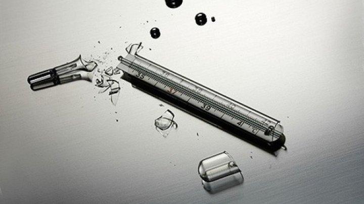 PERICOL DE MOARTE: Mai multe termometre cu mercur s-au spart la o grădiniţă din Capitală (VIDEO)