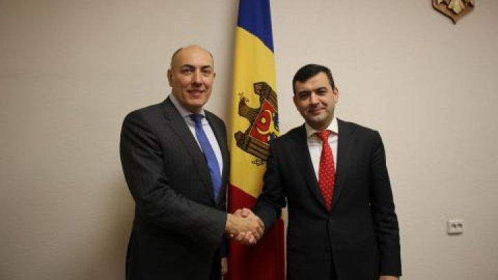 Chiril Gaburici s-a întâlnit cu noul ambasador al Lituaniei în Republica Moldova, Kęstutis Kudzmanas