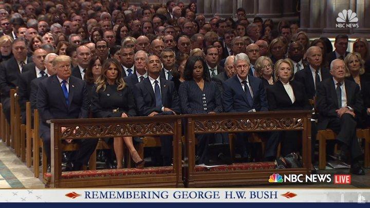 Funeraliile fostului președinte american George H.W. Bush. Foști și actuali lideri din întreaga lume participă la ceremonie (VIDEO)