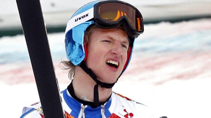CĂZĂTURĂ HORROR la Cupa Mondială de Schi Alpin. Klemen Kosi şi-a pierdut echilibrul în timpul coborârii