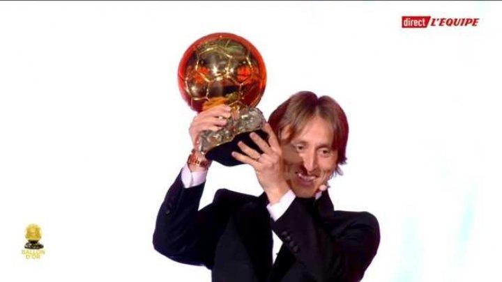 Luka Modric a câştigat trofeul Balonul de Aur