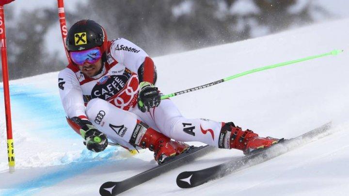 Marcel Hirscher a câştigat proba de slalom uriaş din cadrul Cupei Mondiale de Schi Alpin