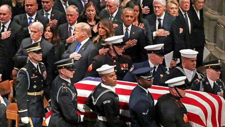 CONDUS PE ULTIMUL DRUM! Fostul preşedinte american George H. W. Bush a fost înmormântat