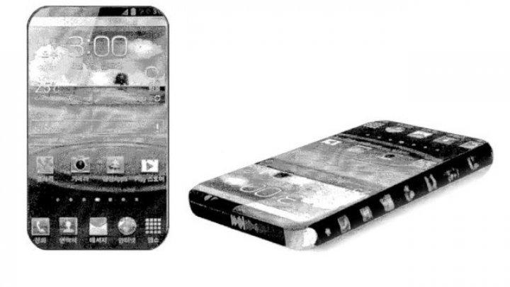 """Samsung brevetează un smartphone """"îmbrăcat"""" aproape complet în ecran"""