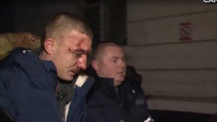 Bătaie în faţa unui club de noapte din sectorul Buiucani. Victima a scos un pistol şi a tras un foc în aer (VIDEO)