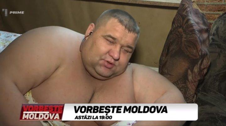 Povestea celui mai gras om din Moldova. Câte kilograme are şi cum trăieşte acesta (VIDEO)