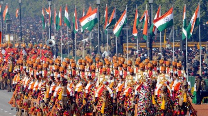 Paradă militară la New Delhi pentru a marca Ziua Republicii Indiei