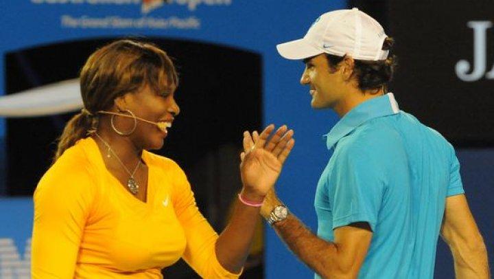 Roger Federer şi Serena Williams vor juca pentru prima dată unul împotriva celuilal