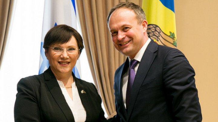 Noi colaborări parlamentare între Republica Moldova și Israel. Andrian Candu a avut o întrevedere cu Tali Ploskov la Chişinău