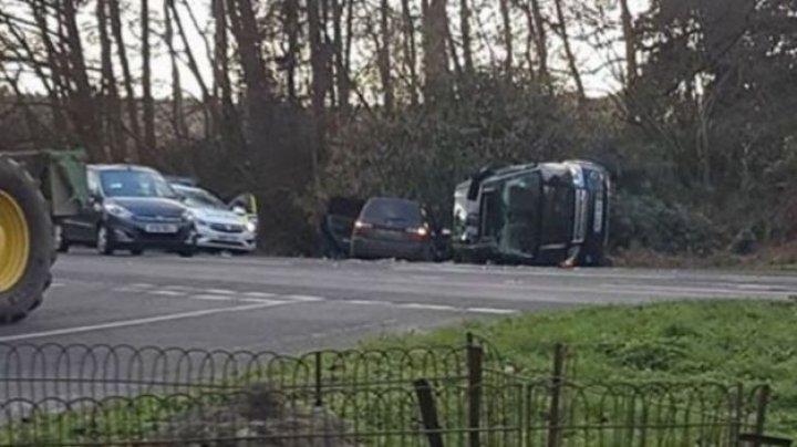 Prinţul Philip, soţul reginei Marii Britanii, implicat într-un accident rutier (FOTO)
