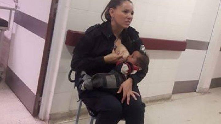 """Gestul admirabil făcut de o poliţistă. A alăptat de urgenţă un bebeluş, deoarece personalul spitalului a considerat copilul """"murdar"""" (FOTO)"""
