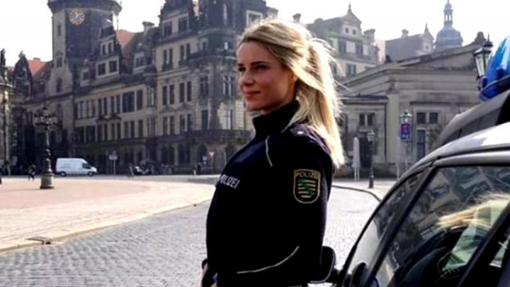 Cea mai frumoasă polițistă din Germania, părăsită de iubit, după o relație de 10 ani