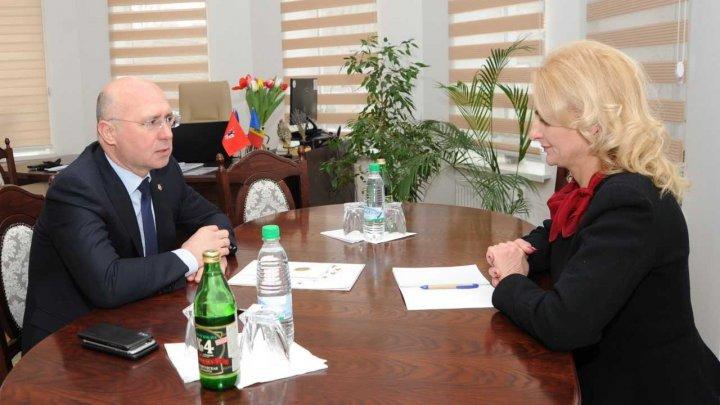 Pavel Filip și primarul de Strășeni au convenit asupra unor proiecte de dezvoltare a orașului