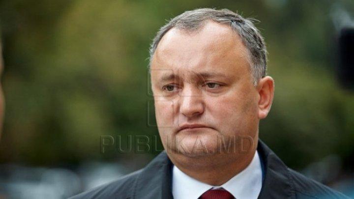 Igor Dodon a felicitat moldovenii doar cu Ziua Victoriei