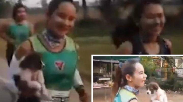 O maratonistă a reuşit să emoţioneze pe toată lumea de la linia de final a cursei. GESTUL ADMIRABIL făcut de tânără (VIDEO)