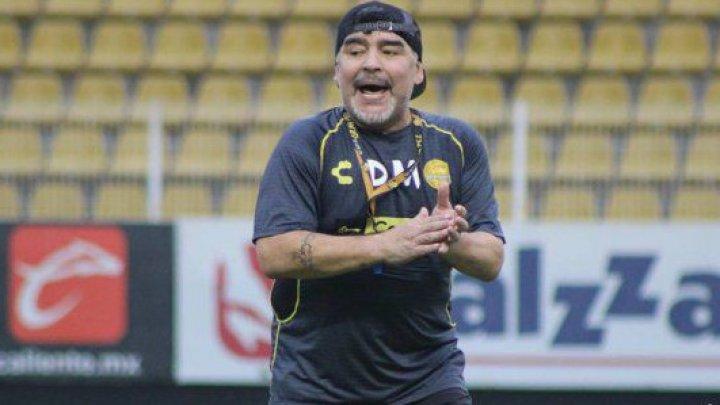 Diego Maradona a demisionat din funcţia de antrenor al echipei mexicane Dorados