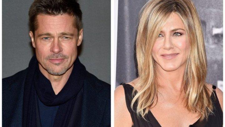 Prima dragoste nu se uită niciodată! Brad Pitt, văzut la petrecerea de aniversare a lui Jennifer Aniston