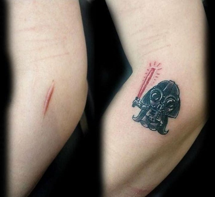 IMAGINI UIMITOARE care te lasă cu gura cască! Şi-au transformat semnele în opere de artă cu ajutorul tatuajului