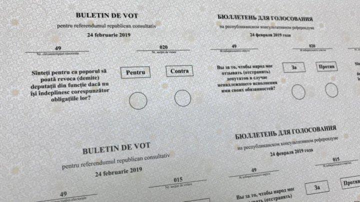 A fost dat startul tipării buletinelor de vot pentru referendumul republican din 24 februarie