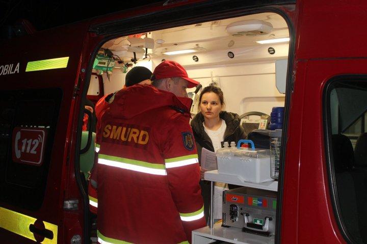 Doi copii în vârstă de trei luni născuți prematur la Kiev, aduși la Chișinău cu un echipaj SMURD