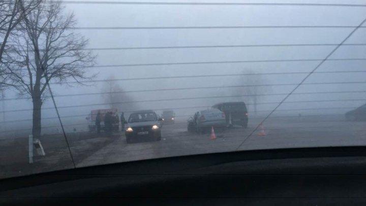 Încă un accident grav în apropiere de orașul Bălți. O mașină, făcută zob (FOTO)