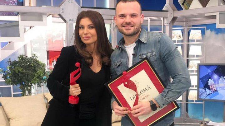 """Gabriela Antocel și Ion Orlov au fost premiați la evenimentul """"Omul Anului 2018"""" la categoria Mass-Media"""