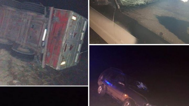 CEAŢA FACE RAVAGII în ţară. ACCIDENT GRAV în raionul Călăraşi: Sunt victime. Poliţia îndeamnă şoferii să fie precauţi (FOTO)