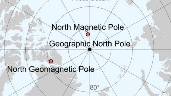 Polul nord magnetic al Pământului migrează cu viteză spre Rusia