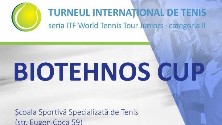 Jucători de tenis din 24 de țări vor lupta la Chișinău pentru trofeul Biotehnos Cup 2019