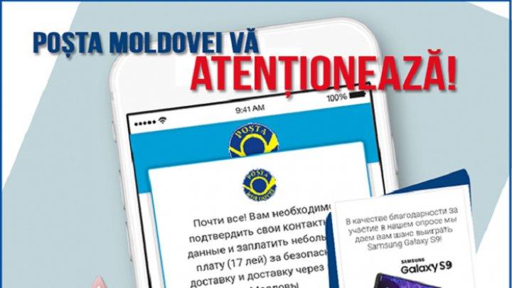 IMPORTANT: Atenție, escrocherie! Poșta Moldovei îndeamnă cetățenii să fie precauți în legătură cu o nouă înșelăciune pe rețelele de socializare