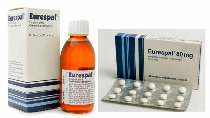ATENȚIE! Medicamentul EUROSPAL, preparat pentru tratarea tusei, va fi retras de pe piaţa farmaceutică din Moldova